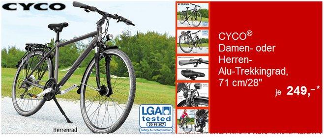 Cyco Alu-Trekkingrad ALDI Süd