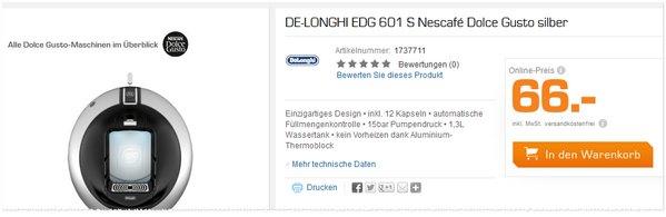 DeLonghi EDG 601 Nescafe Dolce Gusto Circolo in der Saturn Werbung