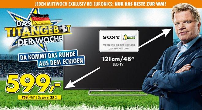 Euronics Titangebot Sony KDL 48W605B