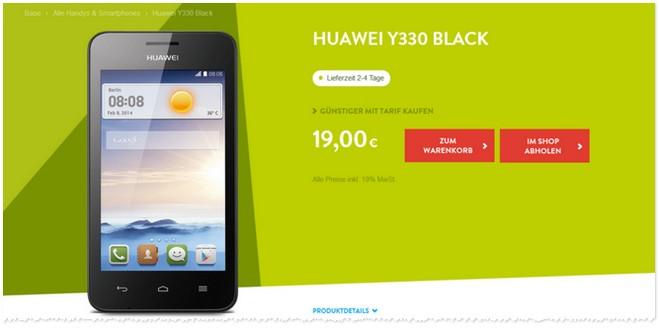 Huawei Y330 ohne Vertrag