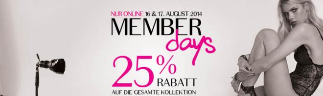 Hunkemöller Member Days 25 Prozent