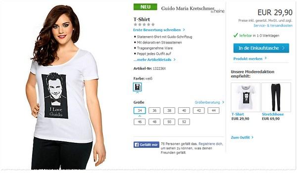 I love Guido T-Shirt kaufen bei Heine