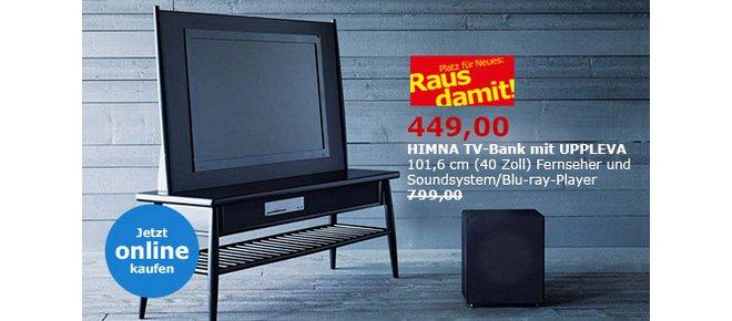 ikea ausverkauf sonderpreise f r uppleva tv ger te. Black Bedroom Furniture Sets. Home Design Ideas
