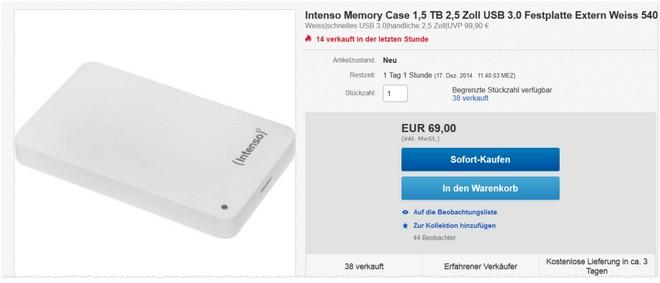 Intenso Memory Case Festplatte