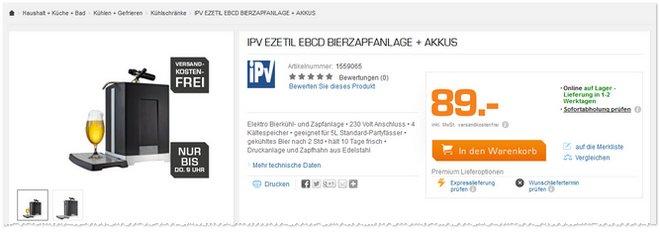 IPV Ezetil Zapfanlage