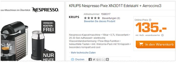 Krups Pixie XN 301