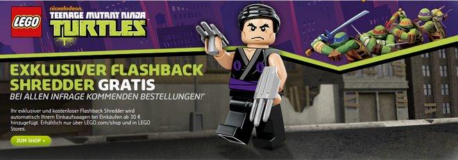 LEGO Turtles Shredder Figur gratis