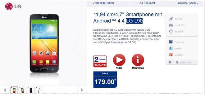 LG L90 ALDI Smartphone