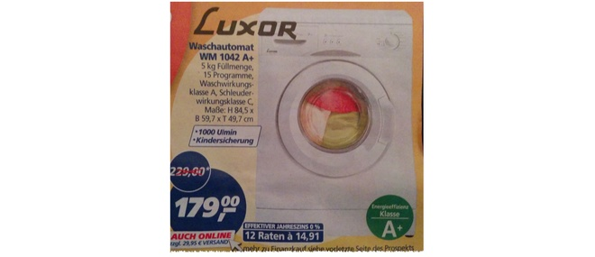 Luxor WM 1042 Real