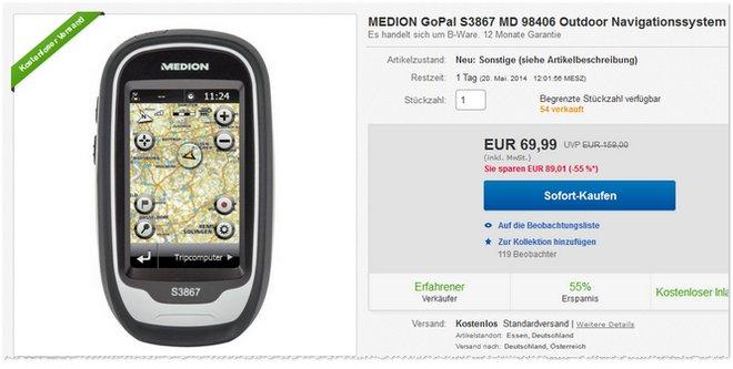 Medion GoPal S3867 Preis