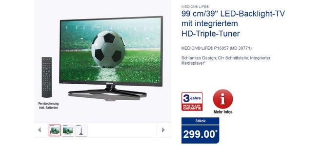 Medion Life P16057 MD 30771 ALDI-TV