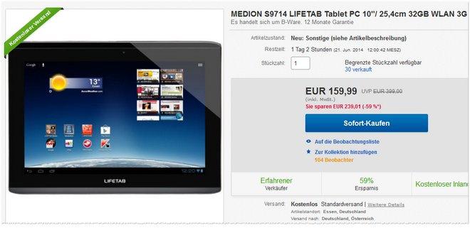 Medion Lifetab S9714 MD 98248 billiger