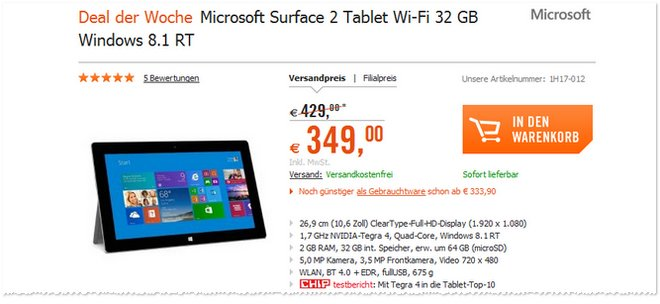 Microsoft Surface 2 Windows RT