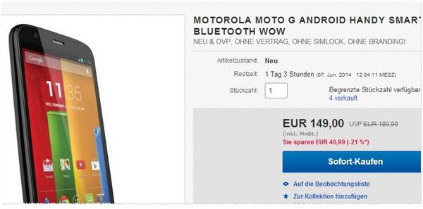 Motorola Moto G Angebot