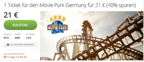 Movie Park Gutschein bei Groupon