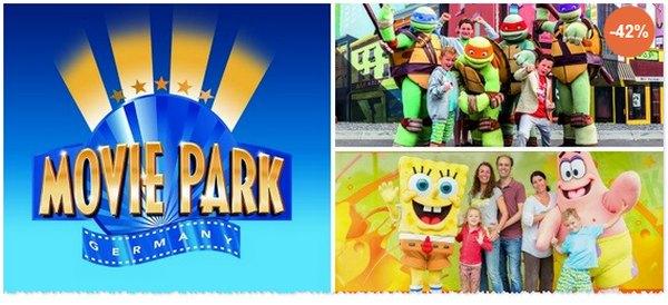 Preis für die Movie Park Tageskarte günstiger