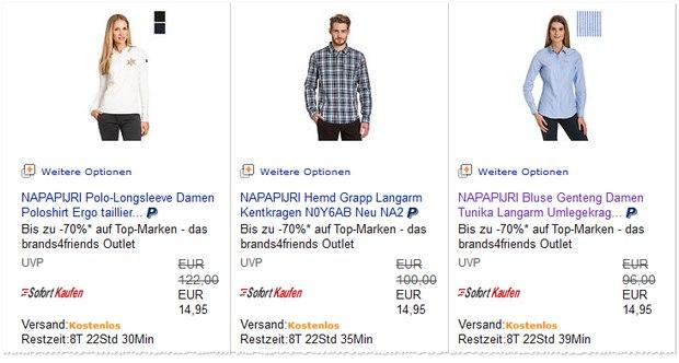 Napapijri-Blusen für 14,95 €