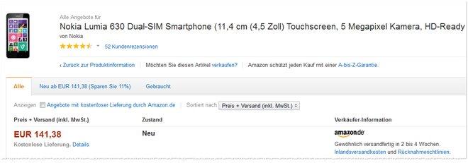 Nokia Lumia 630 Erfahrungen
