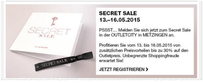 Outletcity Metzingen Secret Sale
