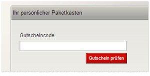 Paketkasten Gutscheincode