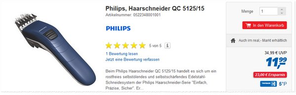 Philips QC 5125/15 bei Real