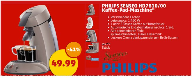 Philips-Senseo HD7810 bei Penny