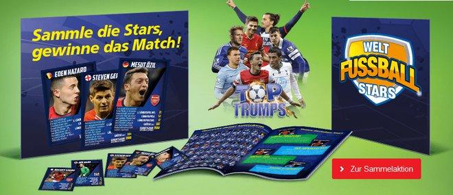 Real Sammelkarten WM 2014 Welt Fußball Stars