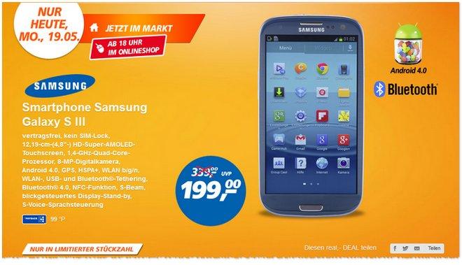 Samsung Galaxy S3 Preis Real