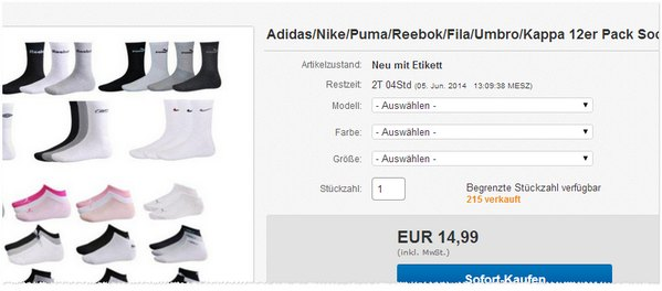 Sneaker-Socken günstig kaufen