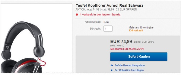 Teufel Aureol Real im Outlet