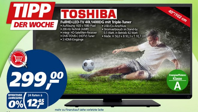 Toshiba 40L1400DG