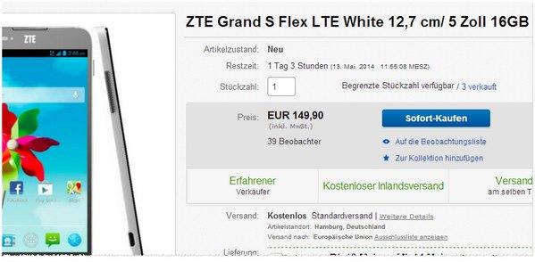 ZTE Grand S Flex günstig kaufen