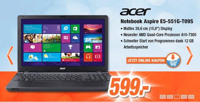 Acer Aspire E5-551G-T09S