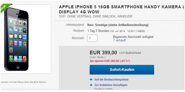 Apple iPhone 5 kaufen