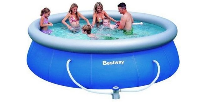 Bestway pool set fast pool bei obi 49 99 for Obi pool set