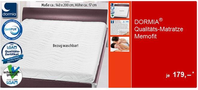 Dormia Memofit Qualitäts-Matratze