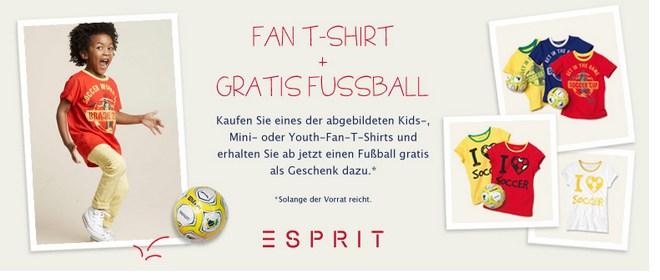 Esprit Fan-T-Shirt für Kinder kaufen, Fußball gratis