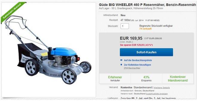 Güde Big Wheeler 460 P Preis