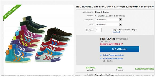 Hummel Sneaker billig