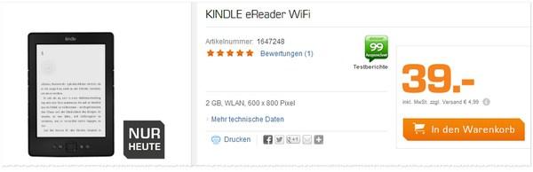Kindle Angebot bei Saturn für 39 €
