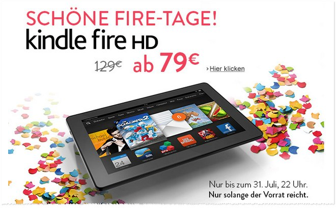 Kindle Fire HD Aktion im Juli 2014