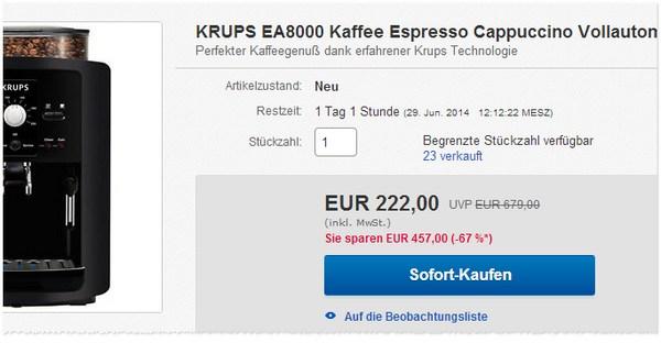 Krups EA 8000 Vollautomat bestellen