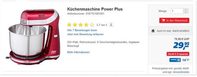 Cuisine edition power plus als real prospekt werbung 29 95 for Mr cuisine edition plus