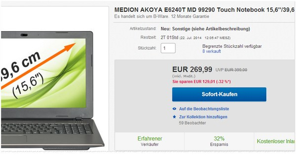 Medion E6240T kaufen
