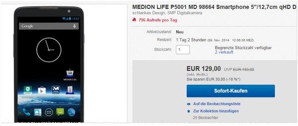 Medion Life P5001 bei eBay