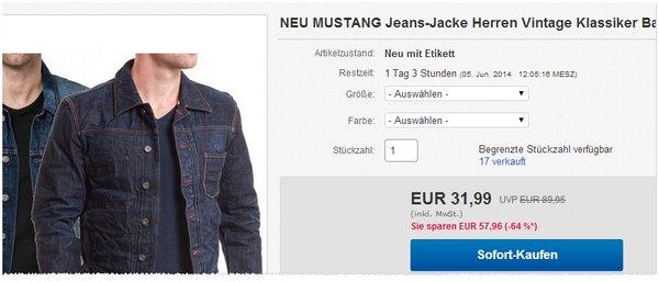 Mustang Jeans-Jacken günstig kaufen