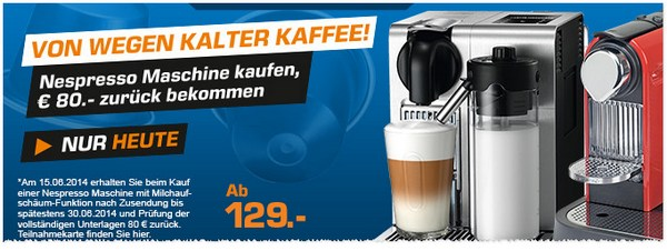 Nespresso Super Sunday bei Saturn