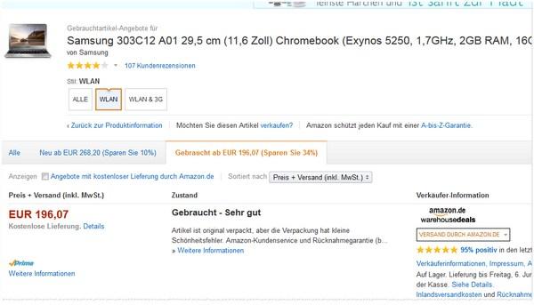 Samsung Chromebook gebraucht kaufen