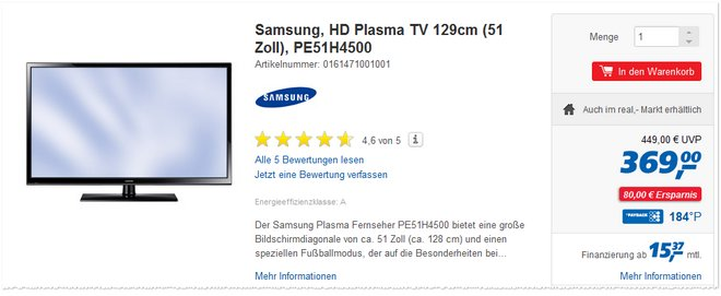 Samsung PE51H4500