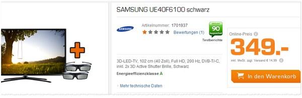 Samsung UE40F6100 Preis
